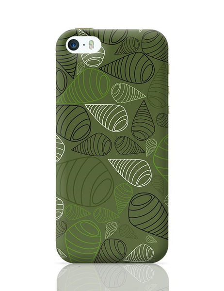 Geometric swirl on green iPhone 5/5S Covers Cases Online India
