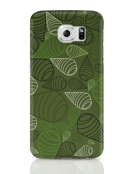 Geometric swirl on green Samsung Galaxy S6 Covers Cases Online India