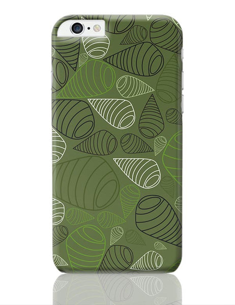 Geometric swirl on green iPhone 6 Plus / 6S Plus Covers Cases Online India