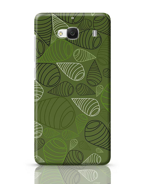 Geometric swirl on green Redmi 2 / Redmi 2 Prime Covers Cases Online India