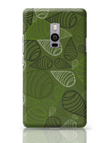 Geometric swirl on green OnePlus Two Covers Cases Online India