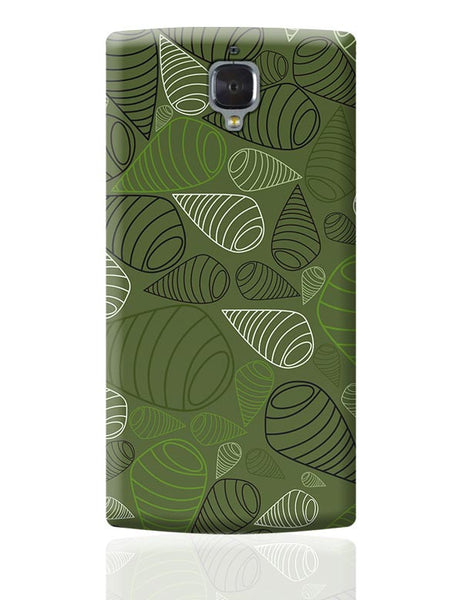 Geometric swirl on green OnePlus 3 Covers Cases Online India