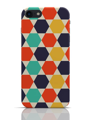 Multi colored repetition shape pattern iPhone 7 Covers Cases Online India
