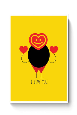 Funny fat stick man with love Poster Online India