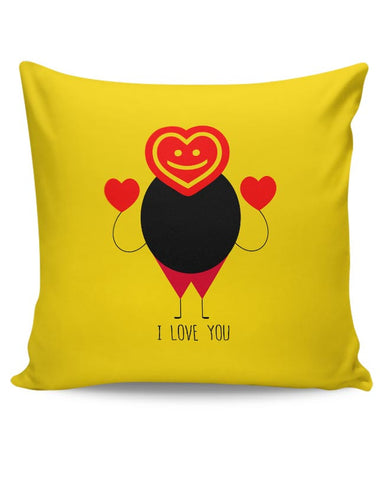 Funny fat stick man with love Cushion Cover Online India