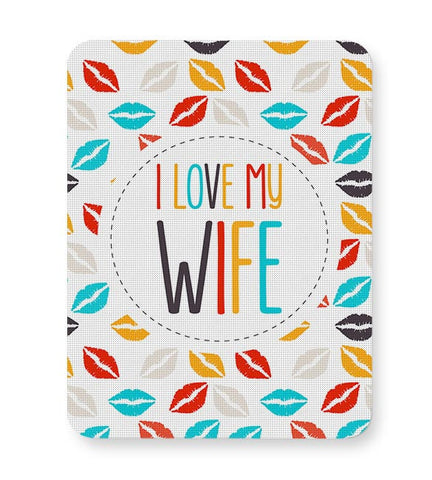 I Love My Wife and  Lips Mousepad Online India