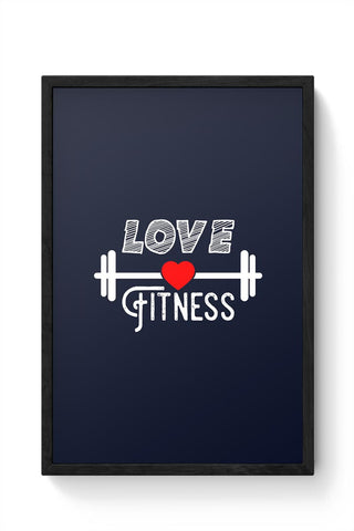 Love Fitness Framed Poster Online India