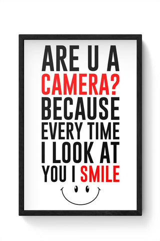Are you a camera Framed Poster Online India