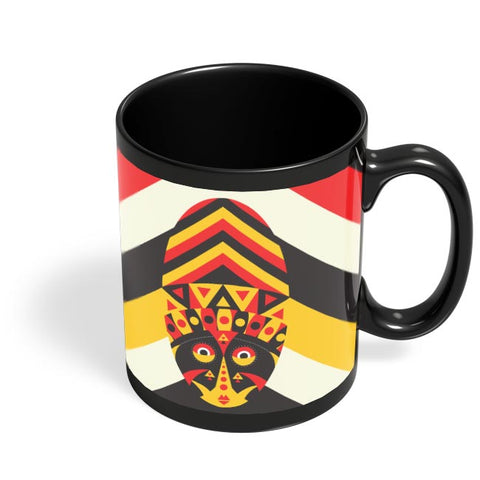 Aboriginal mask Black Coffee Mug Online India