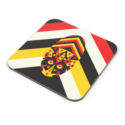 Aboriginal mask Coaster Online India