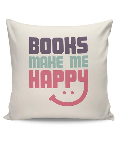 books make happy Cushion Cover Online India