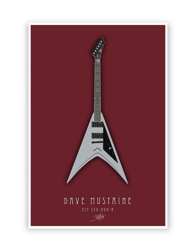 Buy Music Posters Online | Dave Mustaine Guitar Poster | PosterGuy.in