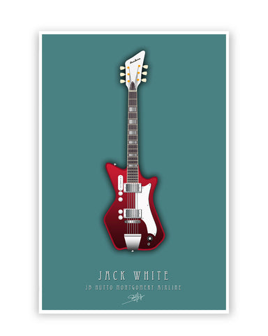 Buy Music Posters Online | Jack White Guitar Poster | PosterGuy.in