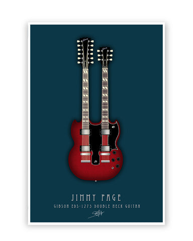 Buy Music Posters Online | Jimmy Page Guitar Poster | PosterGuy.in
