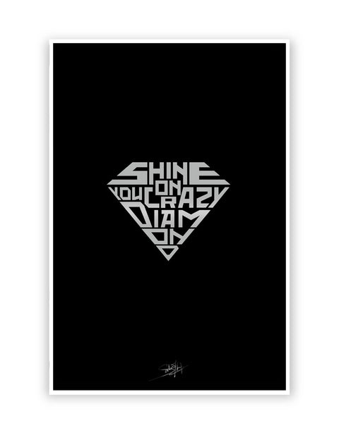 Buy Music Posters Online | Shine On You Crazy Diamond Poster | PosterGuy.in