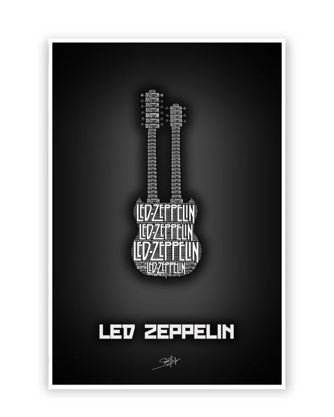 Buy Music Posters Online | Led Zeppelin Guitar Poster | PosterGuy.in