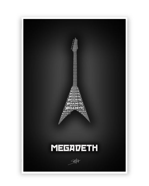 Buy Music Posters Online | Megadeth Guitar Poster | PosterGuy.in