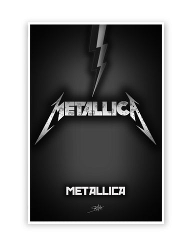 Buy Music Posters Online | Metallica Guitar Poster | PosterGuy.in
