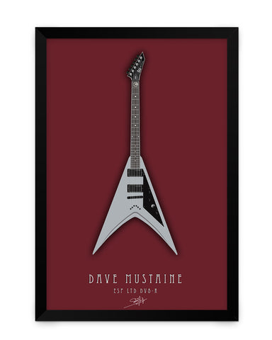 Framed Poster | Dave Mustaine Guitar Matte Laminated Framed Poster PosterGuy.in