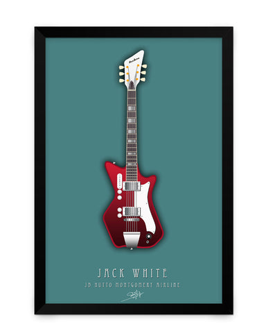 Framed Poster | Jack White Guitar Matte Laminated Framed Poster PosterGuy.in