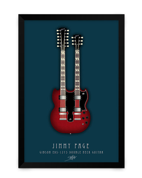 Framed Poster | Jimmy Page Guitar Matte Laminated Framed Poster PosterGuy.in