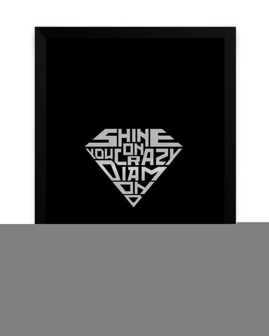 Framed Poster | Shine On You Crazy Diamond Matte Laminated Framed Poster PosterGuy.in
