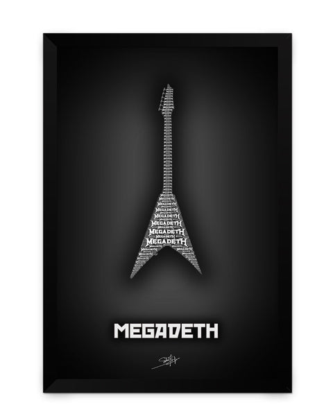 Framed Poster | Megadeth Guitar Matte Laminated Framed Poster PosterGuy.in