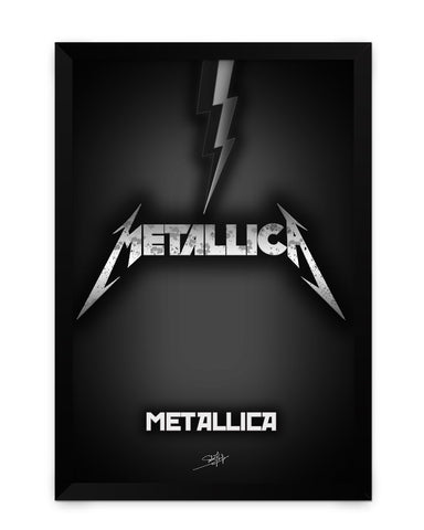 Framed Poster | Metallica Guitar Matte Laminated Framed Poster PosterGuy.in