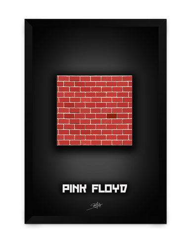 Framed Poster | Pink Floyd Another Brick in the Wall Matte Laminated Framed Poster PosterGuy.in