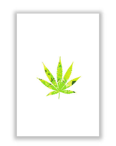 Buy Minimalist Posters Online | Cannabis Marijuana Weed Inspired Poster | PosterGuy.in