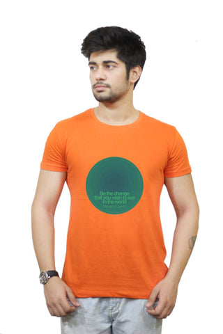 Buy Funny T-Shirts Online India | Be The Change Mahatma Gandhi T-Shirt Funky, Cool, T-Shirts | PosterGuy.in