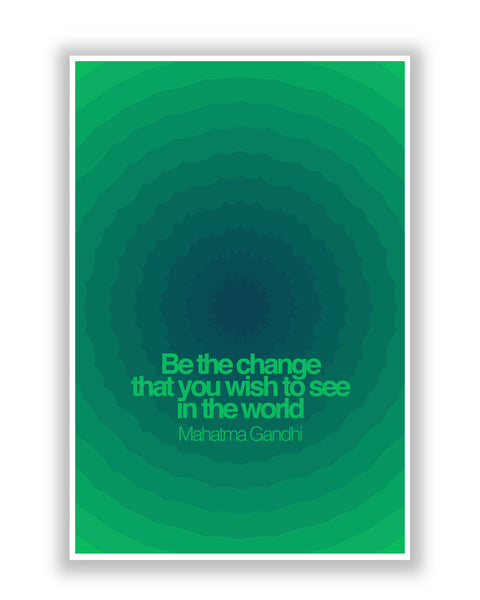 Buy Motivational Posters Online | Be The Change Mahatma Gandhi  Poster | PosterGuy.in