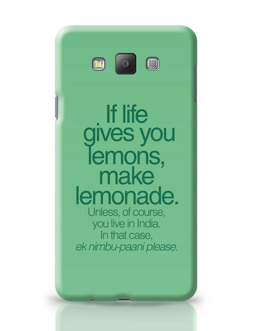 Samsung Galaxy A7 Covers | When Life Gives You Lemons Funny Quote Samsung Galaxy A7 Covers Online India