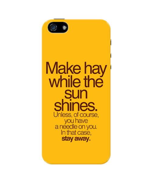 Make Haywhere Funny Quote  iPhone 5 / 5S Case