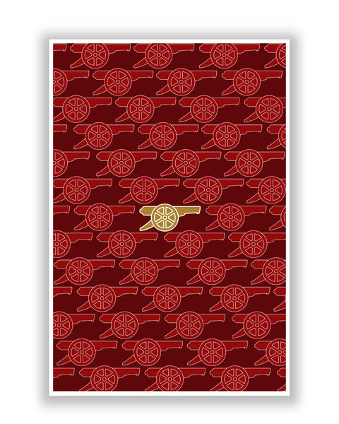 Buy Sports Posters Online | Arsenal Minimalist Red Football Poster | PosterGuy.in
