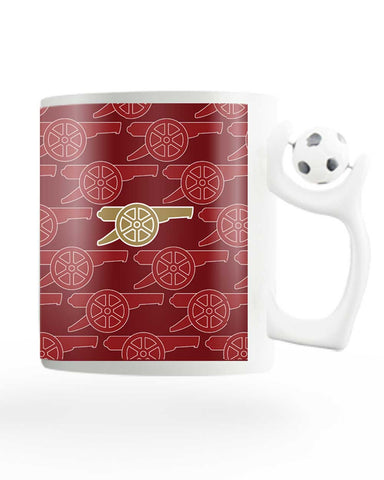 Arsenal Minimalist Logo Red Rotating Football Mug Online India