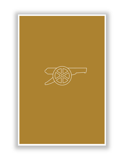 Buy Sports Posters Online | Minimalist Arsenal Football Poster | PosterGuy.in