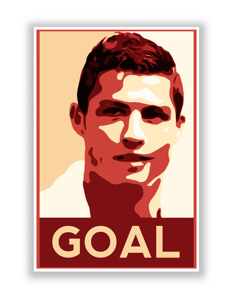 Buy Sports Posters Online | Cristiano Ronaldo Goal Manchester United Football Poster | PosterGuy.in