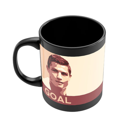 Cristiano Ronaldo Goal Manchester United Black Coffee Mug Online India