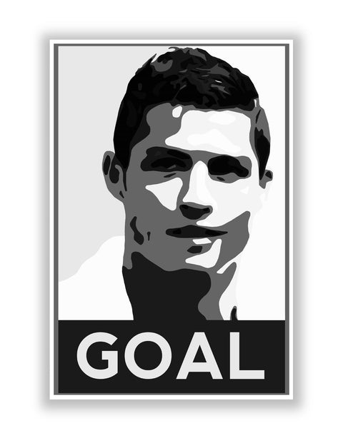 Buy Sports Posters Online | Cristiano Ronaldo Goal Real Madrid Football Poster | PosterGuy.in