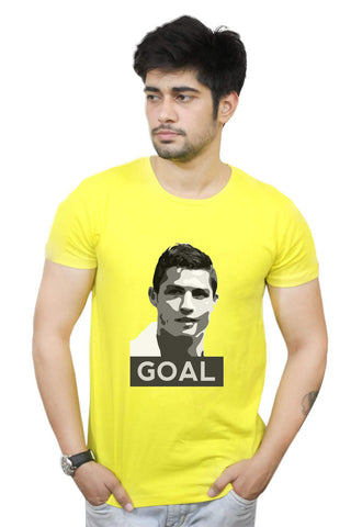 Buy Funny T-Shirts Online India | Cristiano Ronaldo Goal Real Madrid Football T-Shirt Funky, Cool, T-Shirts | PosterGuy.in
