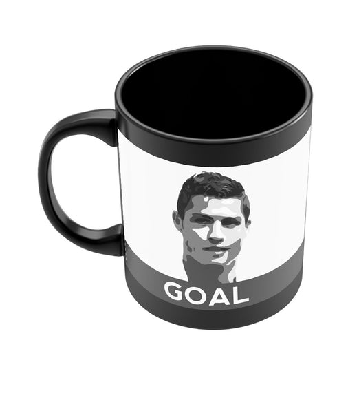 Cristiano Ronaldo Goal Real Madrid Black Coffee Mug Online India