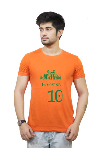 Buy Funny T-Shirts Online India | Neymar Jr Brazil Football T-Shirt Funky, Cool, T-Shirts | PosterGuy.in