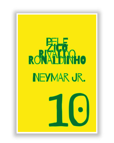 Buy Sports Posters Online | Neymar Jr Brazil Football Poster | PosterGuy.in