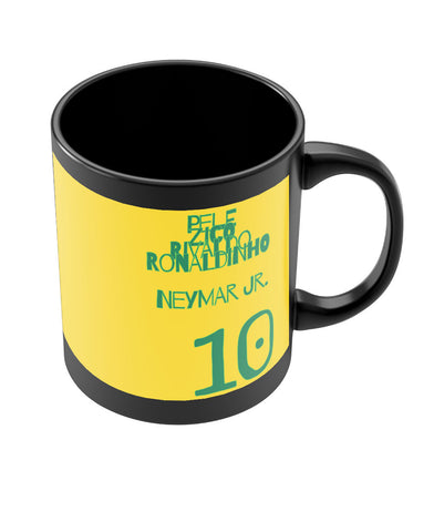 Neymar Jr Brazil Black Coffee Mug Online India