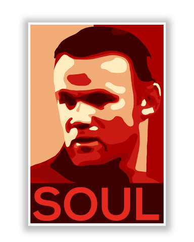 Buy Sports Posters Online | Wayne Rooney Soul Football Poster | PosterGuy.in