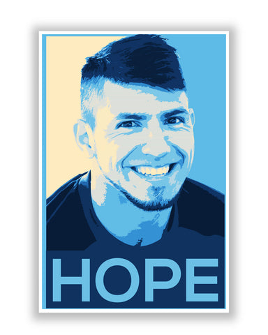 Buy Sports Posters Online | Sergio Aguero Manchester City Hope Football Poster | PosterGuy.in