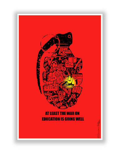 Buy Art Posters Online | War On Education Poster | PosterGuy.in