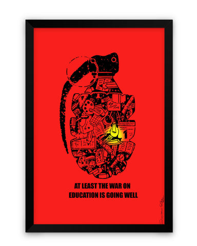 Framed Poster | War On Education Framed Poster PosterGuy.in