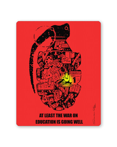 Mouse Pads | War On Education Mouse Pad Online India | PosterGuy.in